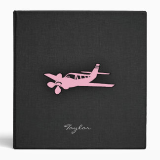 Light Pink Plane Vinyl Binders