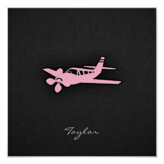 Light Pink Plane Poster