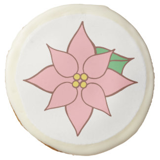 Light Pink Poinsettia Cookies Sugar Cookie