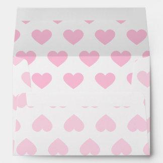 Light Pink Polka Dot Hearts Envelopes
