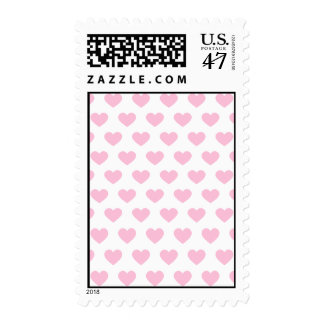 Light Pink Polka Dot Hearts Postage