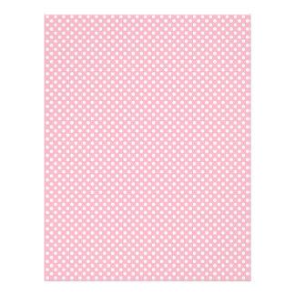 Light Pink Polka Dot Scrapbook Paper Letterhead