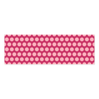 Light Pink Polka Dots Double-Sided Mini Business Cards (Pack Of 20)