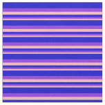 [ Thumbnail: Light Pink, Purple, and Blue Colored Stripes Fabric ]
