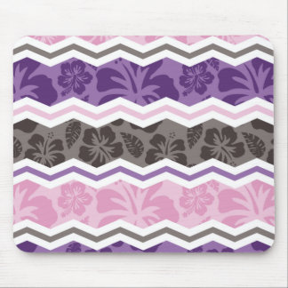 Light Pink, Purple, & Taupe Tropical Pattern Mouse Pad