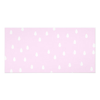 Light pink rain pattern. White and pink. Card