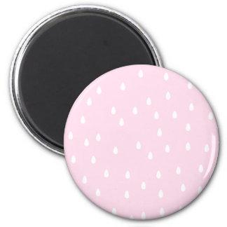 Light pink rain pattern. White and pink. Refrigerator Magnets