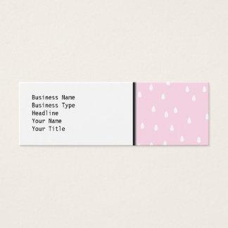 Light pink rain pattern. White and pink. Mini Business Card