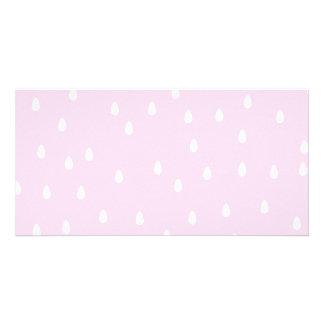 Light pink rain pattern. White and pink. Photo Greeting Card
