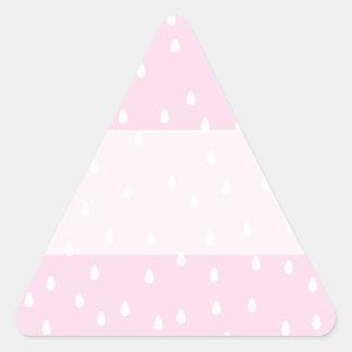 Light pink rain pattern. White and pink. Triangle Sticker