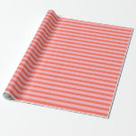 [ Thumbnail: Light Pink & Red Colored Lines/Stripes Pattern Wrapping Paper ]