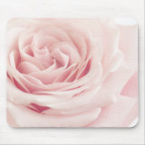 Light Pink Rose Flower pretty girly photography Floral Mouse Pad