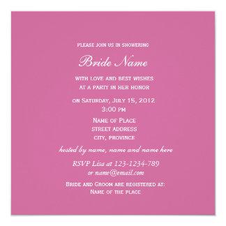 Light pink rose flowers bridal shower invitations custom invitations