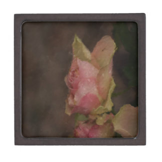 Light Pink Rose Oil Painting Jewelry Box