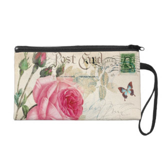 Light Pink Rose Wristlet Bag
