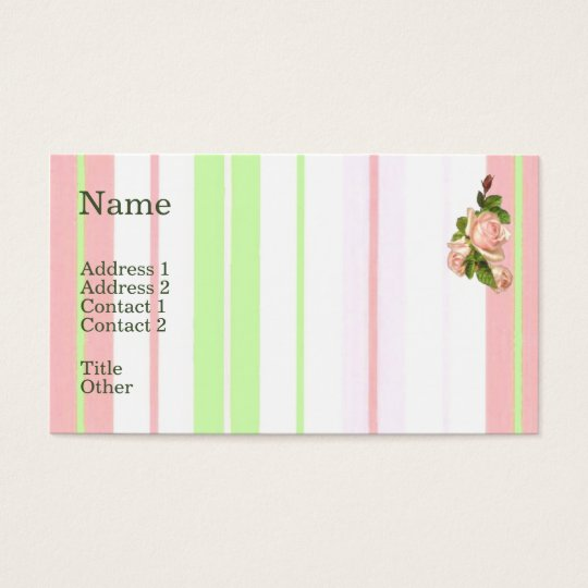 Light Pink Roses Business Card