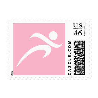 Light Pink Running Postage Stamps