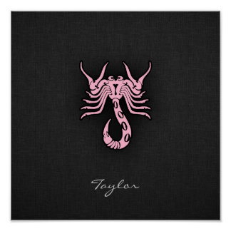 Light Pink Scorpio Poster
