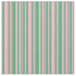 [ Thumbnail: Light Pink, Sea Green, and Dark Grey Lines Fabric ]