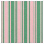 [ Thumbnail: Light Pink & Sea Green Colored Pattern Fabric ]