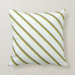 [ Thumbnail: Light Pink, Sea Green, Goldenrod, and Mint Cream Throw Pillow ]