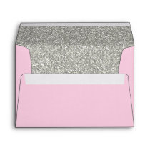 Light Pink & Silver Envelope | A7 Size | 5x7 Card