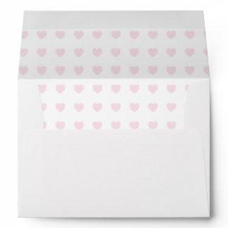 Light Pink Simple Heart Envelopes