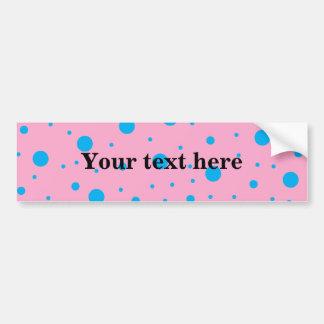 Light pink sky blue tiny and big polka dots bumper sticker