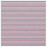 [ Thumbnail: Light Pink & Slate Gray Colored Lined Pattern Fabric ]