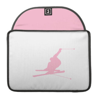 Light Pink Snow Skiing Sleeve For MacBook Pro