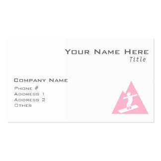 Light Pink Snowboarding Business Card