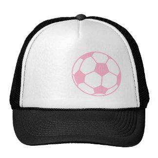 Light Pink Soccer Ball Trucker Hat