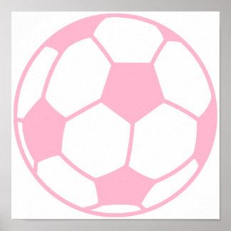 Light Pink Soccer Ball Print