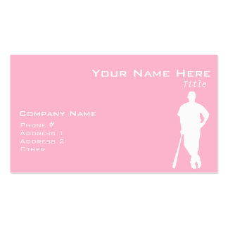 Light Pink Softball Double-Sided Standard Business Cards (Pack Of 100)