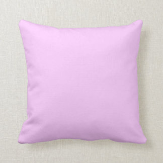 Light Pink Solid Pink Background Lavender Lilac Throw Pillow