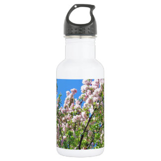 Light Pink Spring Blossoms Stainless Steel Water Bottle