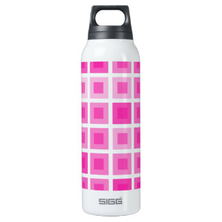 Light Pink Squares 16 Oz Insulated SIGG Thermos Water Bottle