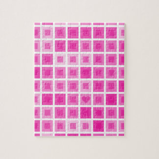 Light Pink Squares with a Little Heart Puzzles