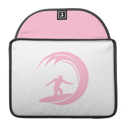 Light Pink Surfing Sleeve For MacBooks