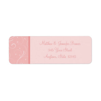 Light Pink Thin Envelope Address Labels
