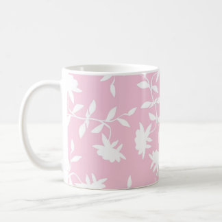 Light Pink Tropical Floral Pattern Coffee Mug