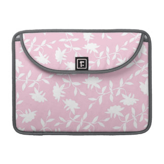 Light Pink Tropical Floral Pattern Sleeve For MacBooks