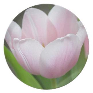 Light Pink Tulip Melamine Plate