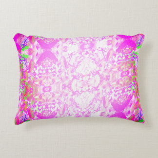 Light Pink Vines and Berries Accent Pillow
