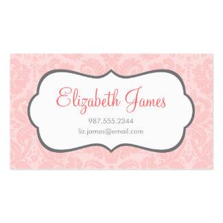 Light Pink Vintage Damask Business Card
