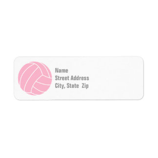 Light Pink Volleyball Label