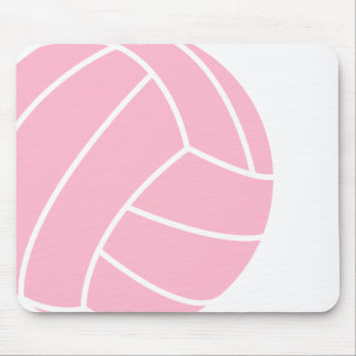 Light Pink Volleyball Mouse Pad