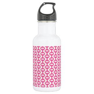 Light Pink Wavy Retro Pattern Stainless Steel Water Bottle