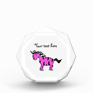 Light pink zebra cute acrylic award