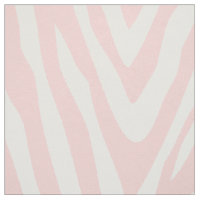 Light Pink Zebra Print Large Scale Fabric